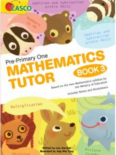 pre-primary one mathematic tutor book 3 cover-248x349